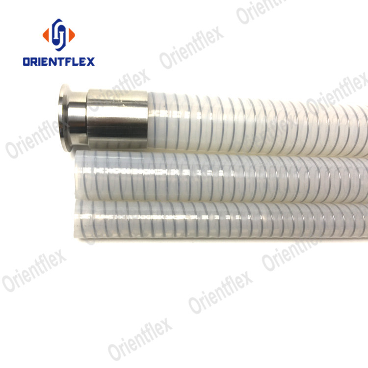 Flexible silicone clear 1 2 steel wire reinforced hose