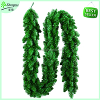 New arrival christmas garland artificial xmas garland high quality home ornaments green christmas garland