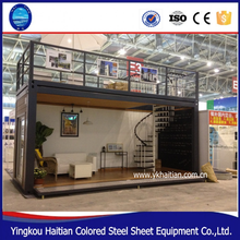 Portable light steel structure prefabricated container houses manufacturer frame villa light steel villa