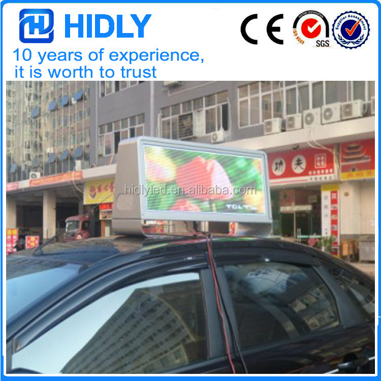 3G P5 Taxi Roof LED Display Taxi Top Sign For Dynamic Advertising