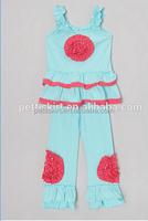 Yiwu Garment Kids Summer Vintage Clothing Set Girls Smocked Boutique