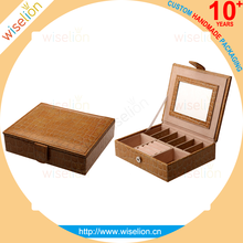Wholesale mirrored jewelry box packaging leather jewelry box big lots jewelry box
