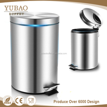 Trash can foot pedal stainless steel commercial hotel dustbin, different types of dustbins