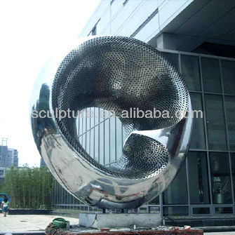 Outdoor Large Modern Stainless Steel Arts Metal Sculpture for Garden decoration