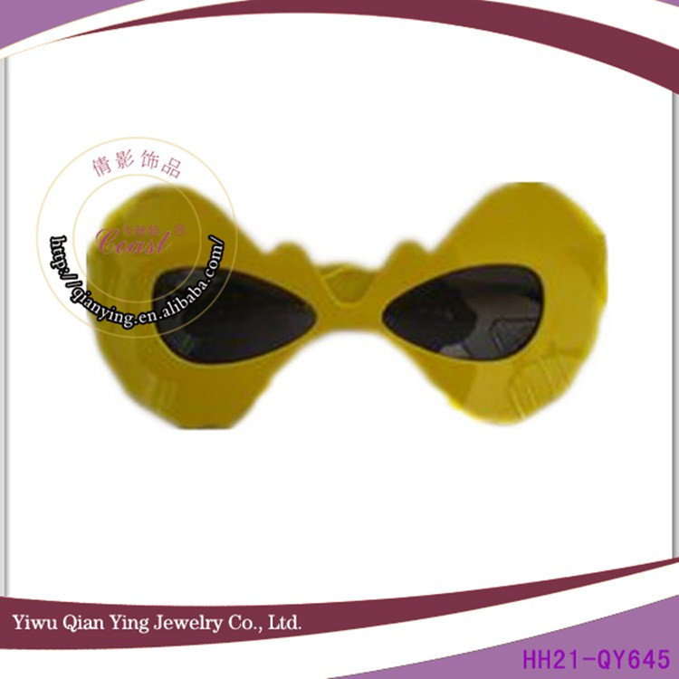 crazy 2014 yellow party wear facny rock glasses