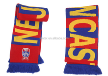 Top quality soccer scarves football scarf cheap hooded scarf