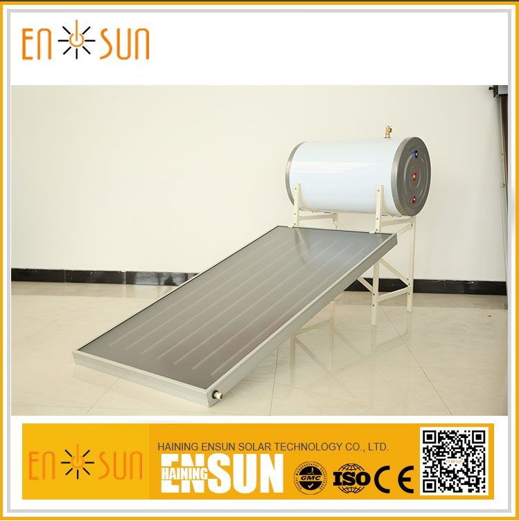 Best selling durable using battery operated flat panel solar water heater