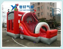 New style small indoor inflatable slide/ inflatable bouncer slide