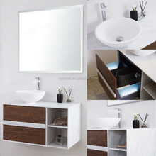Waterproof Customized MDF Wash Basins With Cabinet Bathroom
