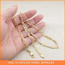 Gold Plated Brass Korean Cuban Chain <strong>Necklace</strong> of Fashion Jewelry Hot New Checked Design