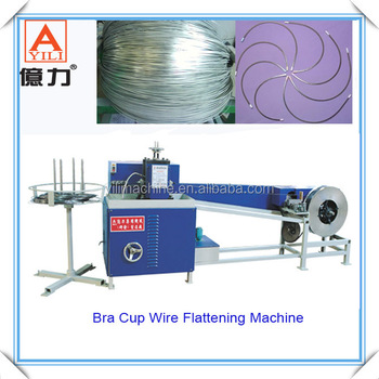 Bra cup wire flattening machine