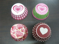 Stock Pink Heart Design paper cupcake liner muffin baking cup mould cake case Valentines day wedding party favor supply