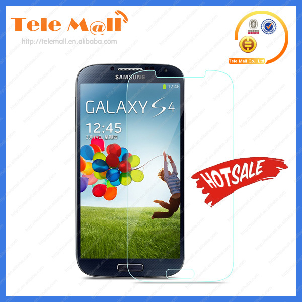 9H hardness tempered glass screen protector for Samsung s4
