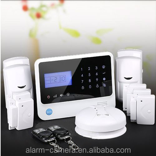 Four wireless relay outputs to control home appliances for wireless burglar alarm control panel, APP controled GSM alarm system