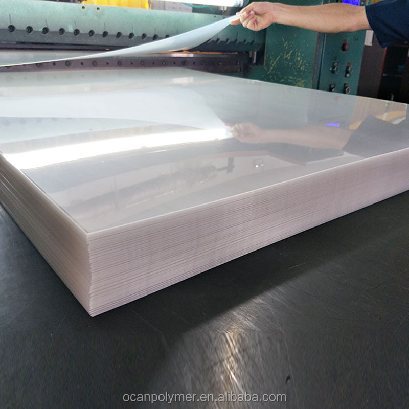 High Impact Hard Gloss Clear PVC Sheet 5mm Thickness