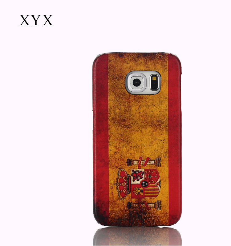made in china OEM&ODM custom Spain country flag printing leather flip back cover case for BQ AQUARIS X5 PLUS
