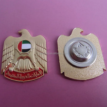UAE 3D falcon magnetic brooch pin