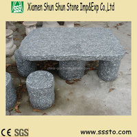 Garden Stone Table &Chair, Granite Outdoor Table