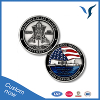 arizona memorial challenge coin antique silver plating coins