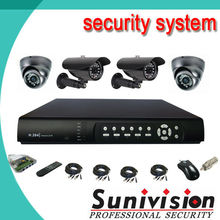 HOT commercial 4 channel CCTV camera kits video surveillance system