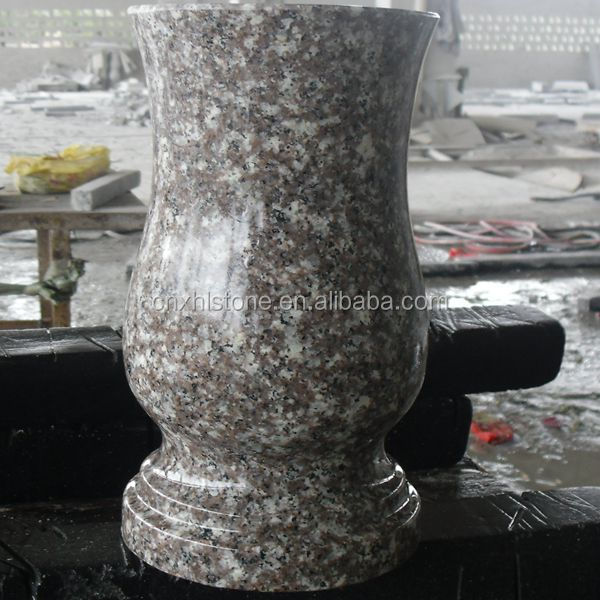 Hot Selling China G664 Pink Granite Flower Vases For Gravestones