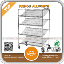 Stainless Steel Kitchen Newspapers Sliding Wire Basket Shelf