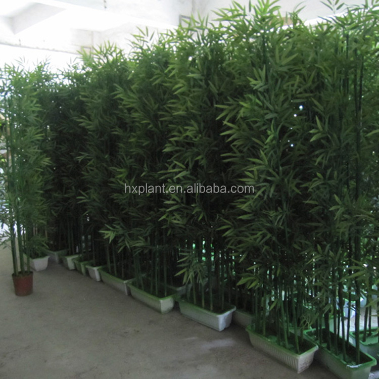 wholesale fake lucky bamboo fencing artificial bamboo fence poles cheap prices evergreen plants branches and leaves
