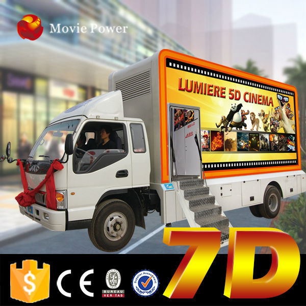 Exciting game 3d/4d/5d/6d/7d 7d cinema theater projector 7d mobile dynamic kino