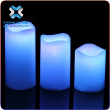 2015 real wax flicker flame LED artificial candle light,flameless moving wick led candle