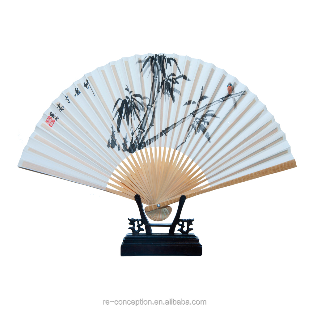 Arriving newest chinese custom design hand fan for birthday/business gift/bamboo frame with silk