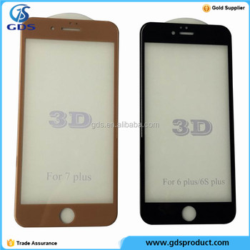Full Curved 3D Cover Tempered Glass Screen Protector For iPhone 7 Plus 6 Plus