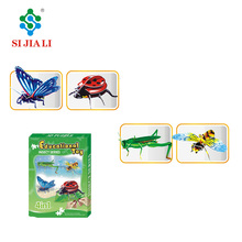 Learning Toys Paper EPS Material 3D Assemble DIY Insect Puzzles