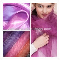 100% polyester organza fabric for scarf
