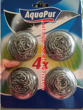 20g blister card stainless steel scourer and stainless steel scrubber