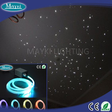 Fiber optic lighting kit 188pcs residential fiber optic lighting with three different size fiber+5W light source+8pcs crystal