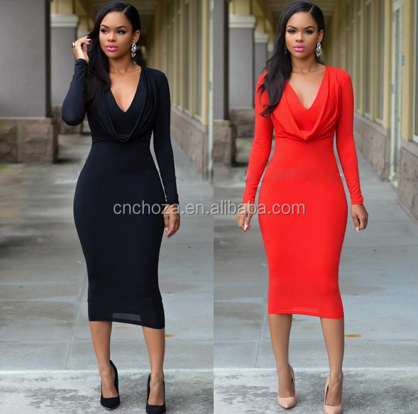 Z54460B Europea fashion european style women bodycon dress