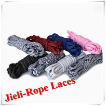 Jieli sport accessories 2016 running round colorful custom shoe laces print