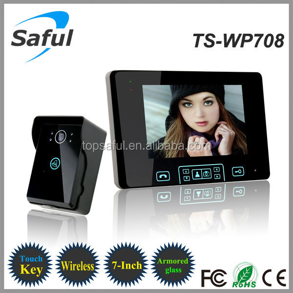 Saful TS-WP708 wireless intercom/ 7 inch video door phone
