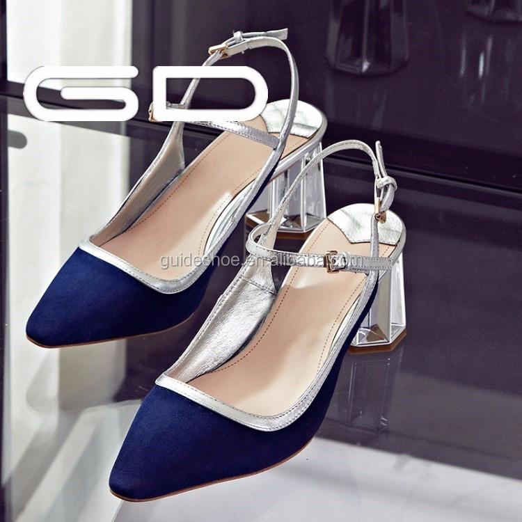 Wholesale crystal heel girl sandals shoes summer women middle heel ...