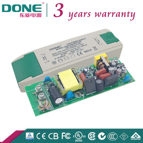 DC54-95V 2years warranty BIS TUV CE CB SAA T-TICK Approved High PF Constant Current 28W300ma LED Driver