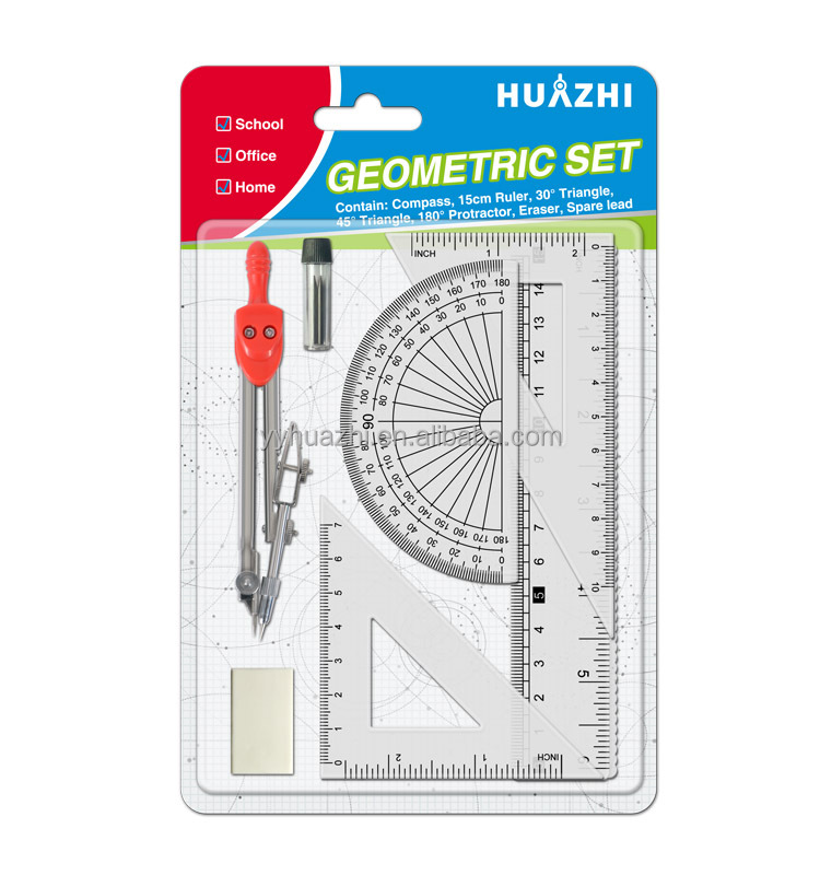 High quality math stationery set, cheaper metal divider bow compasses