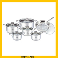 Hot selling double handle cookware set for wholesales