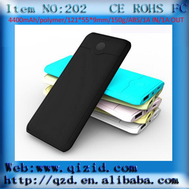 QZD202 new style sophisticated blade-like 4400mah power bank