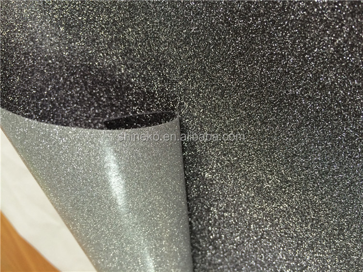 Backed removable adhesive glitter paper for window film decor