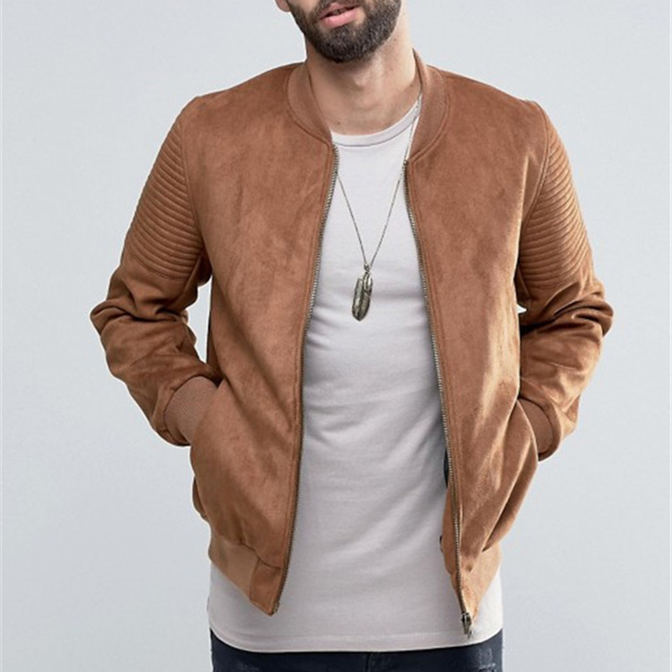 Best Shirt Manufacturers High quality Faux Suede Winter Bomber Slim Fit Dry Fit Men's Leather Jacket
