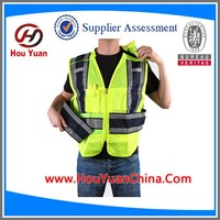 CE EN20471 and ANSI Yellow Reflective Motorcycle Vest, 120G knitted and Zip Fasten, Popular for motorcycle,biker, Driver