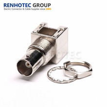 Waterproof BNC Connector Straight 75 Ohm Nickel Plated Female for PCB Mount