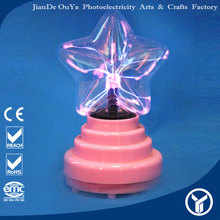 3 inch usb decoration christmas star light plasma ball
