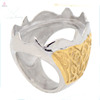 China factory direct wholesale jewelry indonesia ring, mens stainless steel gold ring blanks