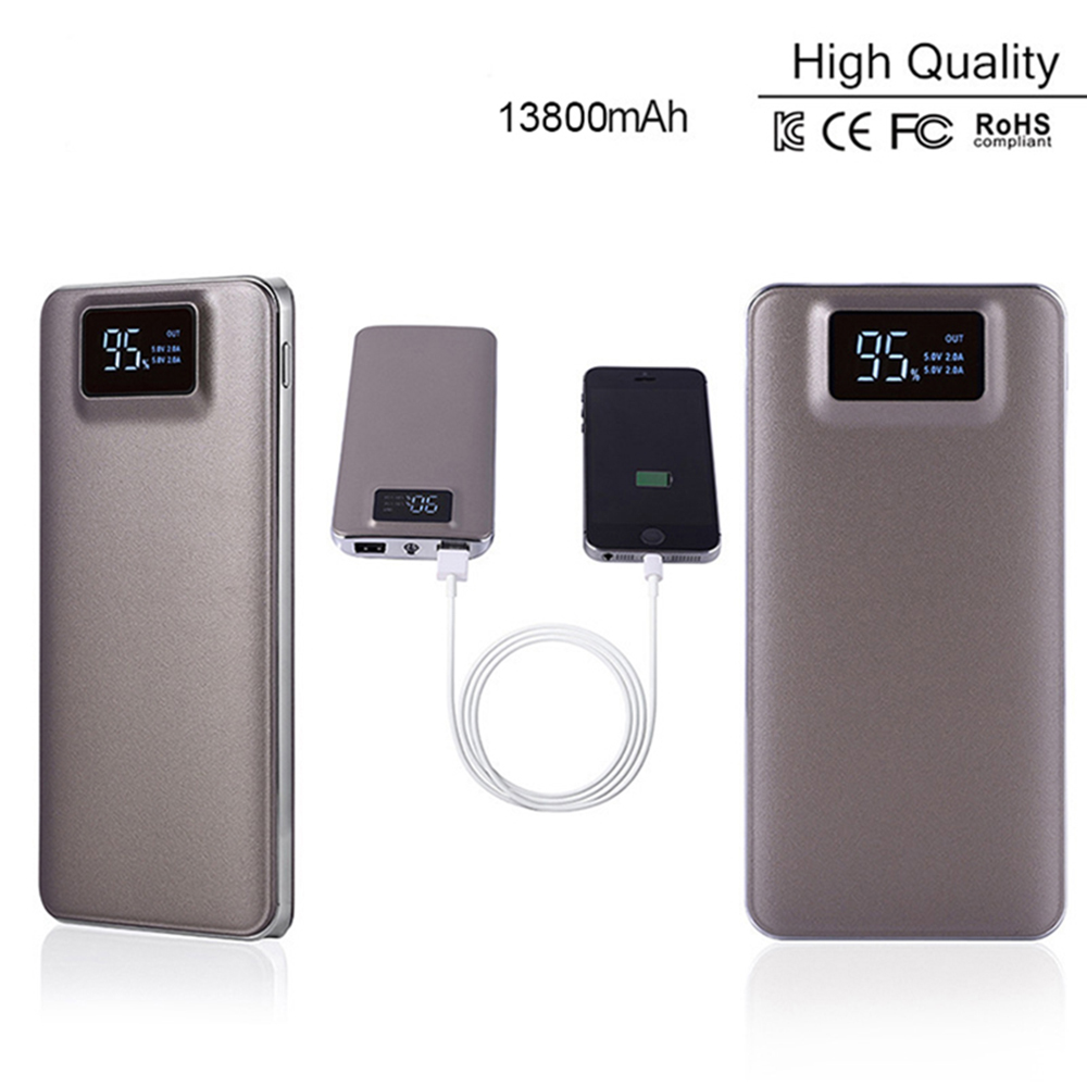 Alibaba New Product High Capacity Power Bank with LCD display 10000mAh